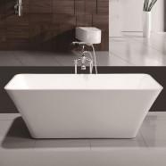 60 ln Freestanding Bathtub - Acrylic White (DK-MEC3047A)