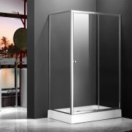 48 x 32 In. (120 x 80 cm) Clear Tempered Glass Freestanding Shower Stall (DK-MS-WE-04A)