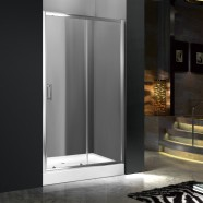 60 In. (150 cm) Clear Tempered Glass Sliding Shower Door (DK-MS-WE-05)
