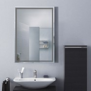 28 x 20 In. Wall-mounted Rectangle Bathroom Silvered Mirror (DK-OD-C226B)