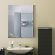 24 x 18 In. Wall-mounted Rectangle Bathroom Silvered Mirror (DK-OD-B002C)