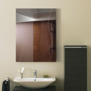 24 x 18 In. Wall-mounted Rectangle Bathroom Silvered Mirror (DK-OD-B068C)