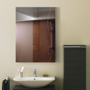 28 x 20 In. Wall-mounted Rectangle Bathroom Mirror (DK-OD-B068B)