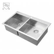 Stainless Steel Double Bowl Kitchen Sink (DK-SC-DS3218-R0)