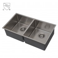 Stainless Steel Double Bowl Kitchen Sink (DSR3219-R10)