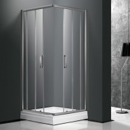 40 x 40 In. (100 x 100 cm) 6mm Clear Tempered Glass Shower Enclosure (DK-A305H)