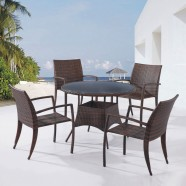 PE Rattan 5 Pieces Dining Set: Dining Table, 4 Chairs(LLS-6136+1136)