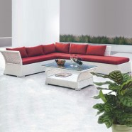 Wicker Patio Sectional with Cushion (JMS-812)