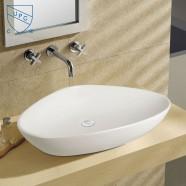 White Ceramic Above Counter Basin (DK-LSE-8093A)