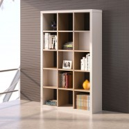 "Shelving Unit 76.8""H x 47.2""W x 15.7""D in Oak and White (CG53)"