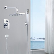 Bathroom Single Handle Tub and Shower Faucet - Brass with Chrome Finish (86H15-CHR-SB)