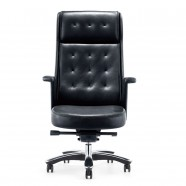 Black High-Back Executive Chair in Leather (BY-101)