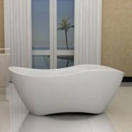 63 In Seamless White Acrylic Freestanding Bathtub (DK-40676)