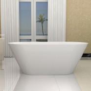 70 In Seamless White Acrylic Freestanding Bathtub (DK-5878)