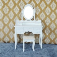 Bedroom Makeup Vanity Set with Mirror and Stool (JI3185)