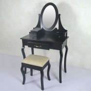 Bedroom Makeup Vanity Set with Mirror and Stool (JI3305)