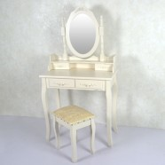 Bedroom Makeup Vanity Set with Mirror and Stool (JI3306)