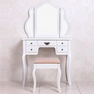 Bedroom Makeup Vanity Set with Mirror and Stool (JI3144)