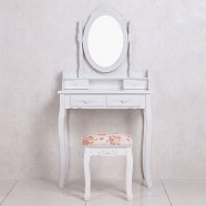 Bedroom Makeup Vanity Set with  Mirror and Stool (JI3186)