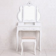 Bedroom Vanity Set with Mirror and Stool (JI3267)