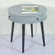 22.0''D Round Wood Coffee Table with 4 Drawers (JI3293)