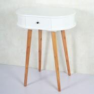 23.6''W Oval Wood Coffee Table with 1 drawer (JI3292)