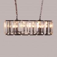 Iron Built 8-Light Modern Crystal Chandelier/Diameter 39 Inch (C6231-8)