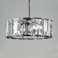 Iron Built 6-Light Modern Crystal Drum Chandelier/Diameter 31 Inch (C6230-6)