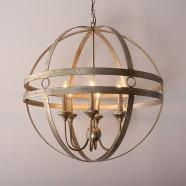 Iron Built 6-Light Modern Globe Chandelier/Diameter 29 Inch (C6262-6)