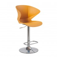 Adjustable Height Swivel Bar Stool with Round Base - Set of 2 (YMG-9802-1)