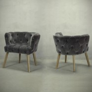 Tufted Barrel Chair (PJC388)