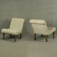 Set of 2 Tufted Armless Slipper Chairs (PJC479)
