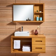 31 In. Wall Mounted Bathroom Vanity Set with Sink and Mirror (DK-667120)