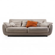 Fabric 3 Seater Sofa with Pillows - Beige (BO-606-2S)