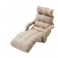 Beige Soft Linen Fabric Folding Floor Sofa Recliner (K16RS01-BE)