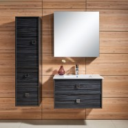 31 In. Wall Mount Bathroom Vanity Set with Single Sink and Mirror (DK-656800)