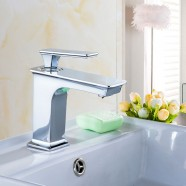 Basin&Sink Faucet - Single Hole Single Lever - Brass with Chrome Finish (81H36-CHR-008)