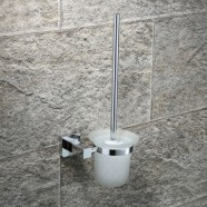 Toilet Brush Holder - Chrome Brass (2508)