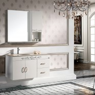 40 In. Single Sink Wall Hung Bathroom Vanity Set with Mirror (PD-1298)
