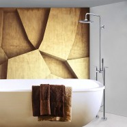 Freestanding Bathtub Faucet/Shower Head with Hand Shower - Brass with Chrome Finish (DK-9115)