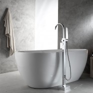 Freestanding Bathtub Faucet with Hand Shower - Brass with Chrome Finish (DK-9111)