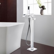 Freestanding Bathtub Faucet with Hand Shower - Brass with Chrome Finish (DK-9132)