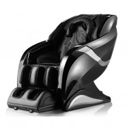 Zero Gravity Heated Reclining L-Track Massage Chair in Black (DLA08-B)