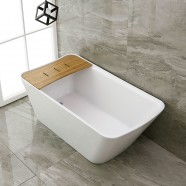 67 In Freestanding Bathtub - Acrylic Pure White (DK-PW-86778)