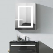 24 x 32  In. Vertical LED Lighted Mirror Cabinet with Touch Button (DK-OD-NS168)