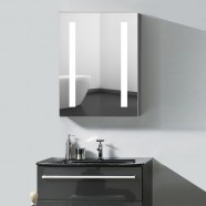 24 x 32 In. Vertical LED Mirror Cabinet with Touch Button (DK-OD-NS36)