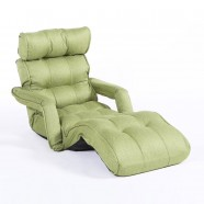 Green Soft Linen Fabric Folding Floor Sofa Recliner (K16RS01-G)