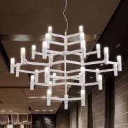 Metal and Glass Built Modern LED Chandelier/44'' Wide with 30 Lights (9065/30)