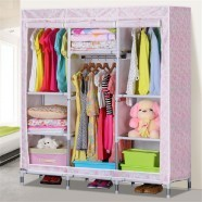 Oxford Fabric Portable Closet with Shelves (DK-WF8506D-1)