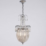 Iron & Crystal Built 2-Light Semi-Flush Ceiling Light/Diameter 11 Inch with Chrome Surface (96001206-2)